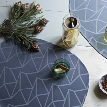 Place mat oval Arne Jacobsen blue also available anthracite, anthracite/beige