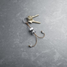 NEW Keyring Girl by alfredo with leather cord  also available Boy or Mother & child