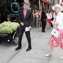 HRM the Queen Margarete of Denmark Royal visit GEORG JENSEN in New York