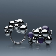 Ring Grape only Silver or with Amethyst also available with black Agate  large 40mmX30mm small 25mmX15mm