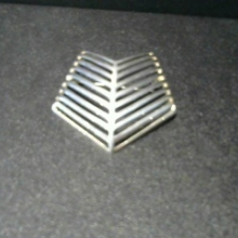 Brooch made in Denmark designed by Nanna Ditzel