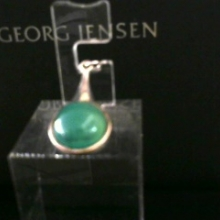 Pendant with green agate made in Denmark
