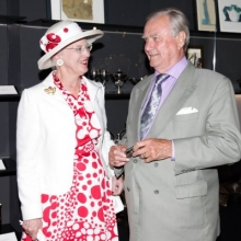 HRM Queen Margarette with Daisy Earring and HRH Prince Consort visit GEORG JENSEN New York