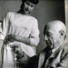 Vivianna works with Picasso 1955