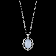 Pendant with blue Charcedoney