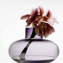 HOLMEGAARD Vase SIMPLICITY Purpul or Smoke H18,5cm