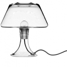 HOLMEGAARD Lamp ONE seamless clear glass in one piece with red cord