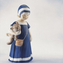 Figurine Else w. Teddy bear