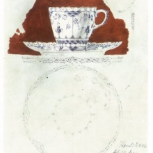 Drowing by Arnold Krog Full lace cup