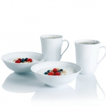 white fluted Mug 2pcs €39,90 Bowl 2pcs €39,90